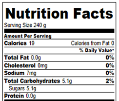 cream soda nutrition facts and