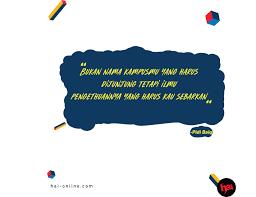 quotes dari pidi baiq tentang pendidikan dan dunia sekolah