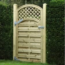 Arched Lattice Top Fence Gate Altg180 1 8m H X 0 9m Wide Green Wooden Supplies