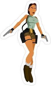 Amazon Com 3 Pcs Pack Lara Croft Tomb Raider 3x4 Inch Die Cut Stickers Decals For Laptop Window Car Bumper Helmet Water Bottle Home Kitchen