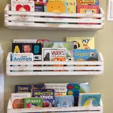 Single Rustic Childrens Book Shelves Kids Book Shelf Hanging Etsy