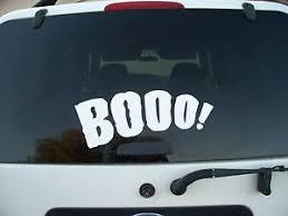 Halloween Car Decal Vinyl Quote Words Wall Door Hoilday Removeable Boo Spooky Ebay
