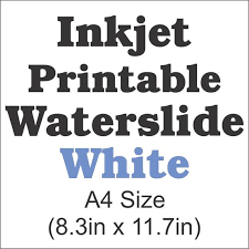 Inkjet Waterslide Decal Paper Clear A4 Size 8 3in X 11 7in Craftcuttersupply Com