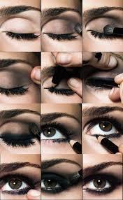 smokey black eye makeup step by step