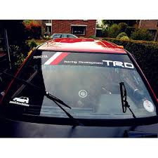 Trd Windshield Decal Style 2