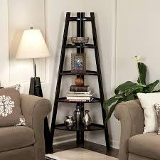 Zimtown Corner Shelf 5 Tier Stand Storage Display Book Rack Organizer Walmart Com Walmart Com