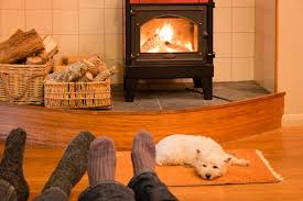 gas or wood stove or fireplace increase