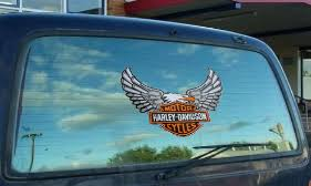 Harley Davidson Window Decals Stickers Backfire Alley
