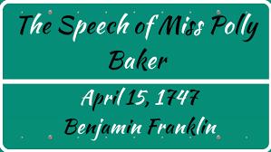 The Speech of Miss Polly Baker by Majd Alshamasneh on Prezi Next