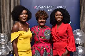 Photo 1, L - R, Abi Williams, Sherry Dzinoreva, Afua Osei | NigeriaPresslog