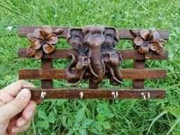 hooks decorative key holder rustic