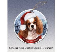 pet gifts round ornament cavalier king