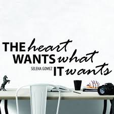 Selena Gomez Heart Inspirational Motivational Wall Decal Quote Etsy