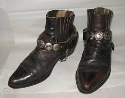 mens 80s retro brown leather ankle