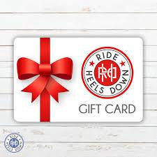ride heels down gift card horseback