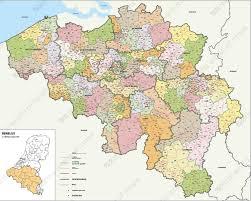 Postcode Map Belgium 2-4 digits 1389 ...