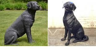 black lab statue famous dog statues