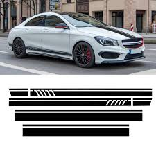 Roof Sport Side Stripes Car Decal Stickers For Mercedes Benz W117 C117 X117 Cla Amg Sale Banggood Com