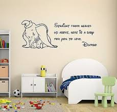 Dumbo Quote Wall Decal Disney Elephant Nursery Decor Art Mural Vinyl Sticker Ebay