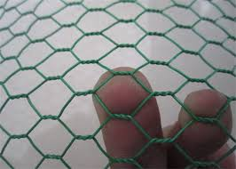 Anti Rust Vinyl 13mm Pvc Coated Wire Netting Green Chicken Wire Fencing