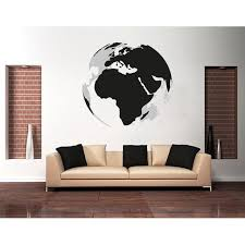 3d Earth Wall Decal Wall Print Decal Sticker Mural Vinyl Art Home Decor Ds 983 47in X 44in Walmart Com Walmart Com