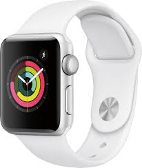 Apple Watch Series 3 (GPS) 38mm Silver Aluminum Case with White Sport Band  Silver Aluminum MTEY2LL/A - Best Buy