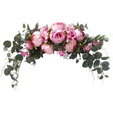 artificial flowers peony wreath