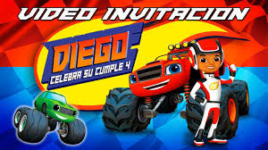 Video Invitaciones 21 Blaze And The Monster Machines Invitacion
