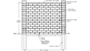 Design Details For Building With Allan Block Fence
