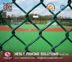 Vinyl Coated Chain Link Mesh Fence