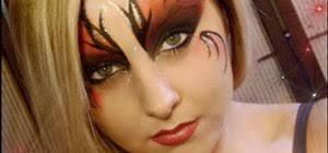 dark fairy makeup look for halloween
