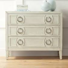 wide white wood 3 drawer accent chest