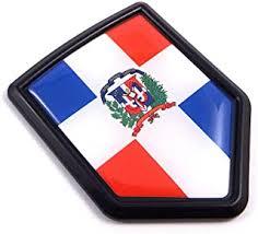 Dominican Republic Flag Screw On License Plate Emblem Car Decal Badge Furnacerestaurant Co Nz