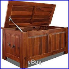 large wooden blanket box storage trunk