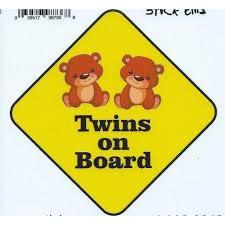 5 X 5 Girl Twins On Board Bumper Sticker Car Decal Window Stickers Decals Walmart Com Walmart Com
