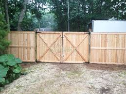 Privacy Fence Double Gate Sagging Wood Oklahoma Double Drive Gate Rear View Wooden Fence Gate Backyard Gates Double Gate