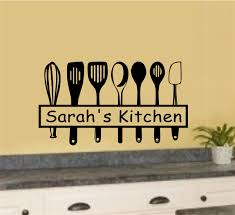 Personalized Custom Name Kitchen Utensils Vinyl Decal Wall Stickers Lettering Kitchen Decor