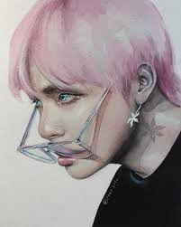 boys kim taehyung fanart and v