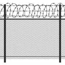 Premium Vector Prison Privacy Metal Fence