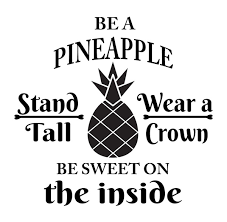Be A Pineapple Inspirational Quote Vinyl Inspired Wall Decal Sticker Living Room Vinyl Removable Decal For Office School Kids Room Home Window Decoration Wish
