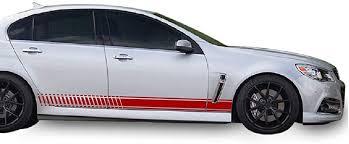 Amazon Com Bubbles Designs Set Of Sport Side Stripes Decal Sticker Vinyl Compatible With Chevrolet Ss 2013 6 2 L Ls3 V8 Automotive