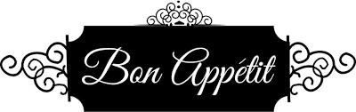Amazon Com Bon Appetite Vinyl Wall Decal Small Black Home Kitchen