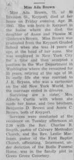 Obituary for Ada Brown (Aged 75) - Newspapers.com