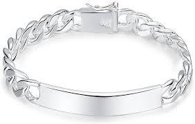 Amazon.com: Xiaodou Cable Chain Bracelet Men 925 Sterling Silver Bracelet  10MM Fashion Link Bracelet: Jewelry