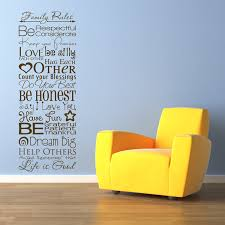 Family Rules Quote Sayings Wall Decals Stickers Graphics