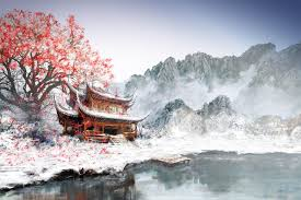 anese landscape painting wallpapers
