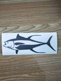 1760648128 Fish Sticker Yellowfin Tuna Fishing Vinyl Die Cut Decal Boat Truck Window Car Accessories Car Styling Car Sticker Automobiles Motorcycles Exterior Accessories