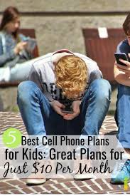 5 best cell phone plans for kids and