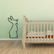 Rabbit Outline Wall Decal Little Bunny Wall Sticker