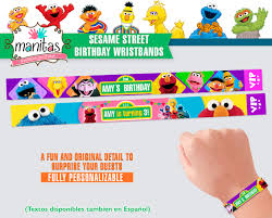 40 Pack Sesame Street Birthday Wristbands Sesame Street Party